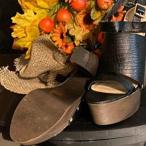 "New SHOEDAZZLE ""Anesha"" platform heels."